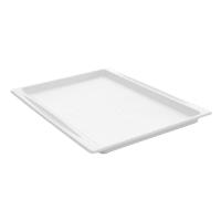 Plateau pulpe rectangulaire blanc