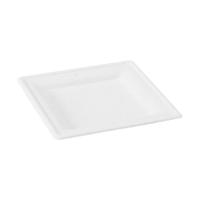 Assiette pulpe carrée blanche