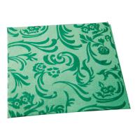 Serviette non-tissé damassée vert foncé