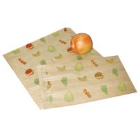 Sac papier brun décor fruits  200x70mm H300mm