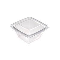 Saladier plastique PET carré transparent