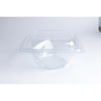 Saladier PET carré transparent vrillé