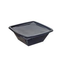 Saladier PET carré noir