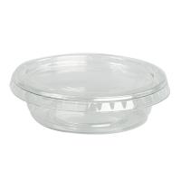 Pot plastique PET transparent rond