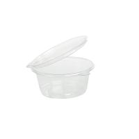 Pot plastique PET avec couvercle attaché