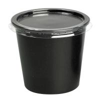 Pot plastique PP noir rond