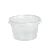 Pot plastique PP transparent rond