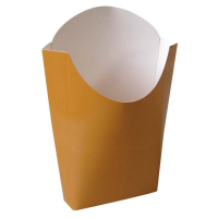 Pochette kraft couleur pour frites 500ml 55x120mm H152mm