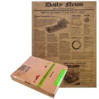 Papier alimentaire kraft brun ingraissable décor journal en boite distributrice
