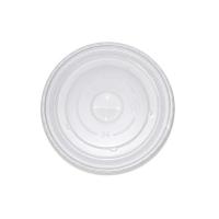 Couvercle PS translucide plat avec trou