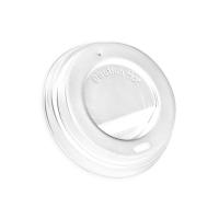 Couvercle plastique PS dôme blanc