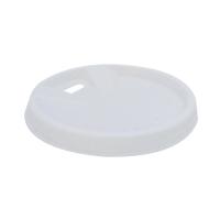 Couvercle plastique PS plat blanc avec trou