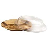 Couvercle plastique PS dôme transparent