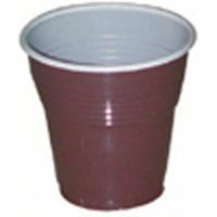 Goblet plastique PS marron blanc