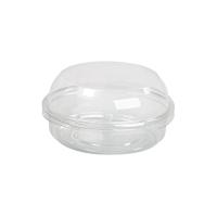 Pot Deli rond PET transparent avec couvercle dôme