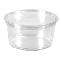 Pot Deli rond PET transparent