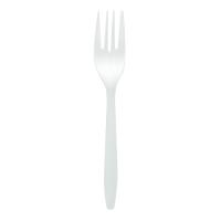 Fourchette plastique PP blanche