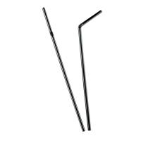 Paille plastique PP flexible noire