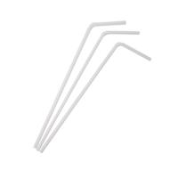 Paille plastique PP flexible blanche