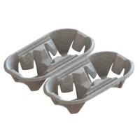 Porte gobelets en cellulose pour 2 gobelets