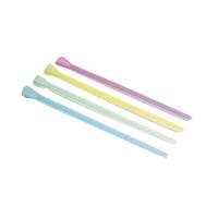 Paille cuillère plastique PP couleur assortie