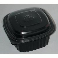 Cassolette plastique carrée noire