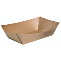 Barquette carton kraft naturel 100ml 115x80mm H20mm