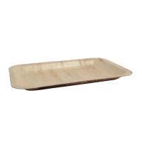 Plateau en feuille de bambou