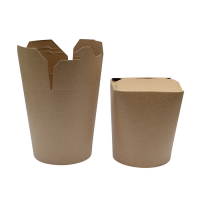 Pot carton rond kraft fermeture à fente