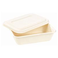 Boîte repas pulpe blanche avec couvercle