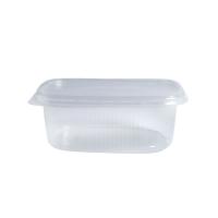 Boite plastique PP rectangulaire transparente 125ml 110x80mm H25mm