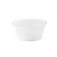 Pot plastique PS translucide rond