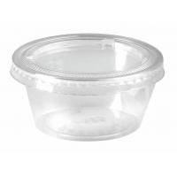 Pot plastique PP transparent avec couvercle PET plat