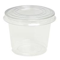 Pot plastique PET transparent avec couvercle dôme et trou