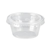 Pot plastique PET transparent avec couvercle plat