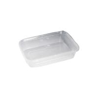 Boite rectangulaire plastique PP injecté avec couvercle