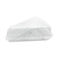 Boite plastique PET part de tarte à couvercle charnière  162x135mm H50mm