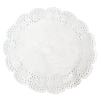Dentelle papier blanc ronde
