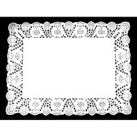 Dentelle papier blanc rectangulaire