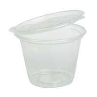 Pot plastique PP rond avec couvercle attaché