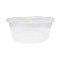Boite plastique PP ronde transparente avec couvercle 3000ml Ø237mm  H102mm