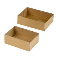 Boîte pâtissière carton brun sans couvercle  140x100mm H48mm