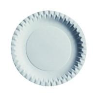 Assiette ronde en carton blanc  Ø180mm
