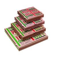 """Boîte à pizza carton brun décor """"Une bonne pizza""""  290x290mm H35mm"""