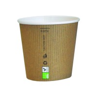 "Gobelet carton PLA ""Nature Cup"" 90ml Ø59mm  H52mm"