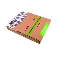 Papier blanc avec décor burger en boîte distributrice  350x270mm