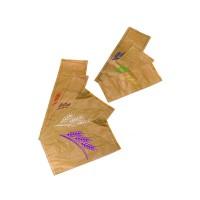 Sac à pain papier kraft brun décor rouge  190x70mm H590mm