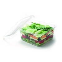 Pot carré en PLA transparent - GS6-1 1 100ml 160x160mm H65mm