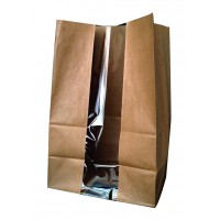 Sac SOS papier kraft brun avec fenêtre  180x110mm H265mm