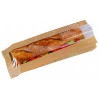 Sac sandwich papier brun à fenêtre  120x40mm H340mm